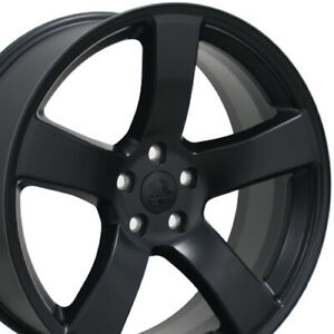 20 Matte Black Charger Style Wheels 20x8 Set Of 4 Rims Fits Dodge Cp