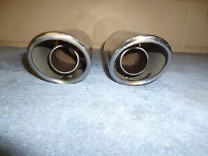 Pair Of Exhaust Tips Cadillac Rat Rod Street Bike Stainless Dual