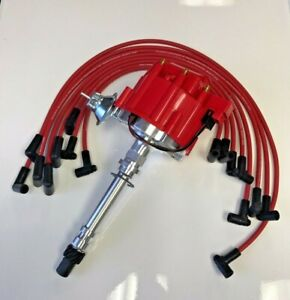 Sbc Hei Distributor Kit Moroso 8mm Wires Over Valve Covers Red Wires New Kit