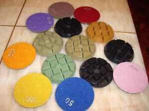 4 75 Piece Diamond Floor Polishing Pad Concrete Terrazzo Granite Marble Stone