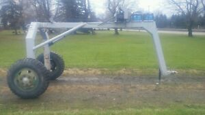 Log Logging Arch Skidder Trailer With Warn Winch M12000 Used