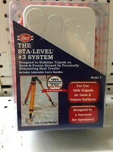 Byers Sta level 3 System Surveyor Tripod Stand Frozen Ground Usa