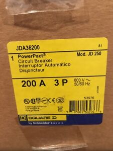 Square D Jda36200 3 Pole 200 Amp I line Circuit Breaker New In Box