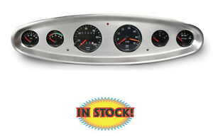 Lokar Bdi 9111 6 Gauge Digital Dash Insert For Vdo Winged Series Brushed