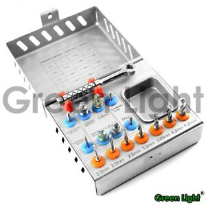 Surgical Drills Kit Drill Ratchet Drivers Pins Dental Implants Instruments