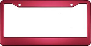 Anodized Aluminum License Plate Frame Dark Pink