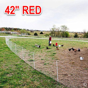 Poultry Net Electric Fence Goat Sheep Chicken Pig Outdoor Fencing Large Cage 42