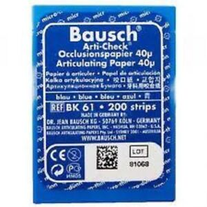 16 X Bausch Arti Check Articulating Paper 40u Bk 61 200 Strips Dental Free Ship