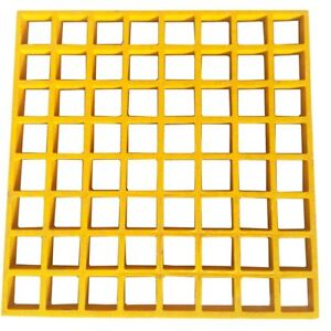 Eco Pultrusions Frp Molded Grating 12 Inchx12 Inchx1 Inch Yellow 6pack