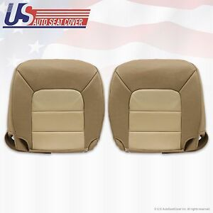 2004 Expedition Eddie Bauer Driver Passenger Bottom Leather Seat cover 2 tone