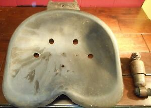 Vintage Cast Iron Tractor Seat With Mounting Bracket Monroe Auto Equip Co