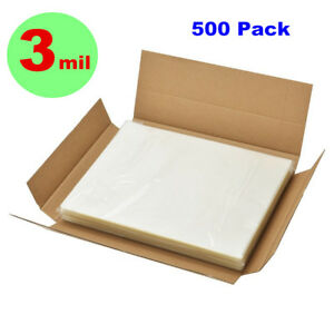 3 Mil 500 Pack Letter Size Clear Thermal Hot Laminating Pouches 9 X 11 5 Sheet