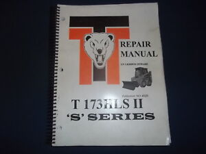 Thomas T 173hls Ii s Series Skid Steer Loader Service Repair Workshop Manual