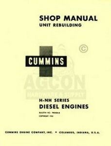 Cummins H Nh Diesel Engine 4 6 Cyl Shop Service Manual