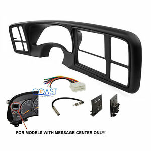 Car Radio Stereo 2 Din Dash Kit Harness For 1999 02 Gm Full Size Trucks
