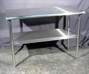 Good Trinity All Stainless 48 x24 Work tables stands With Undershelf