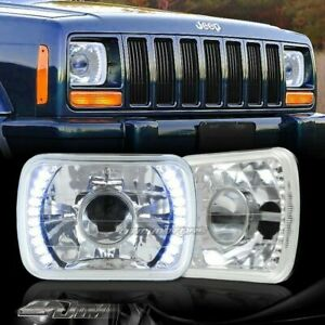 7 X6 H6014 H6052 H6054 Blue Led Chrome Housing Projector Headlights Universal 5