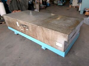 Granite Plate Table 4 X 9 On A Stand inv 5107
