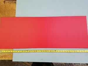Sintra 1 8 X 14 X 33 Red Plastic Sign Board Peel And Stick Adhesive