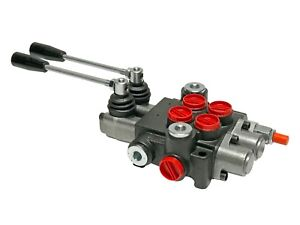 2 Spool Hydraulic Control Valve Double Acting 13 Gpm 3600 Psi Sae Ports New