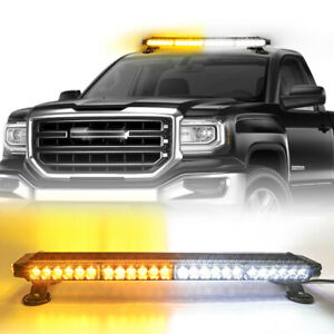 26 54 Led Harard Emergency Warn Flash Double Side Strobe Light Bar Amber white