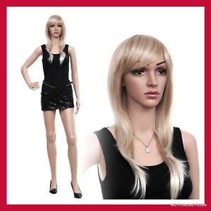 Realistic Standing Female Full Body Display 32 24 34 Mannequin base 1 Free Wig
