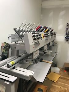 Melco 4t 10 Commercial Embroidery Machine