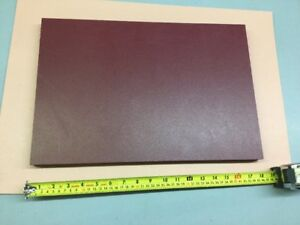 Hdpe Machinable Plastic Sheet 1 X 12 X 18 Red Textured Both Sides