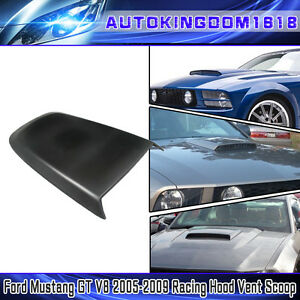 For 2005 2009 Ford Mustang Gt V8 Air Flow Vent Racing Hood Scoop Abs Black Usa