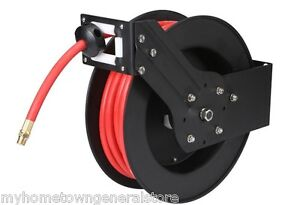 3 8 In X 50 Ft Retractable Air Hose Reel For Compressors Garage Shop 250 Psi