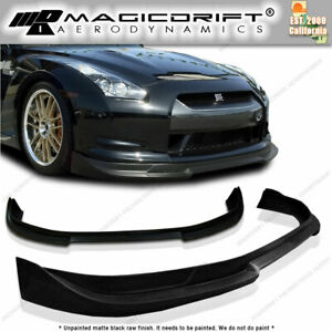 Made For 09 10 11 Nissan Gtr R35 Street Style Front Chin Bumper Lip Urethane