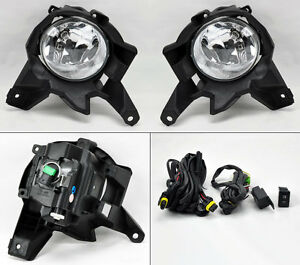 Toyota Rav4 2013 2015 Clear Front Bumper Fog Lights Lamps Pair Switch Wiring