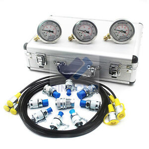 Excavator Hydraulic Pressure Gauge test kit Hydraulic Gauge Test Coupling