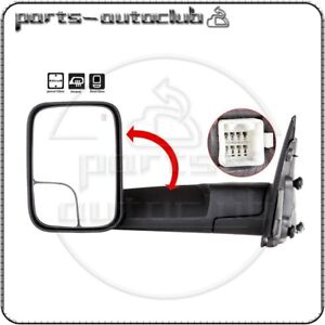 For 02 08 Dodge Ram 1500 2500 3500 Towing Power Heated Driver Side View Mirror