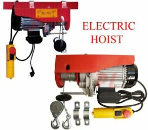 510w Electric Wire Rope Cable Hoist Lift Pulley 220 Lb 440lb