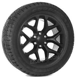 Chevy Silverado Suburban Tahoe Z71 20 Satin Black Snowflake Wheels Rims Tires