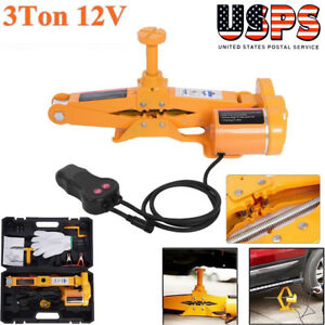 12v 3ton Heavy Duty Automotive Electric Scissor Car Lifting Jack Impact Wrench