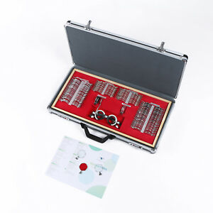 158 Pcs Optical Trial Lens Set Metal Rim Hq Aluminum Case Optometry Kit