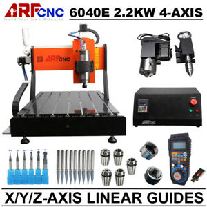 Cnc 6040 4axis 2 2kw Milling Drilling Cutting Machine Linear Guide Usa Duty Free