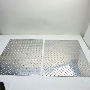 19 Aluminum Diamond Tread 3003 Plate 19 5 Wide 23 875 Long Qty 2 Sku122847