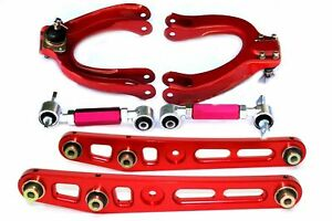 88 91 Civic Crx Ef Da Integra Front Rear Adjustable Camber Kit Control Arm Red