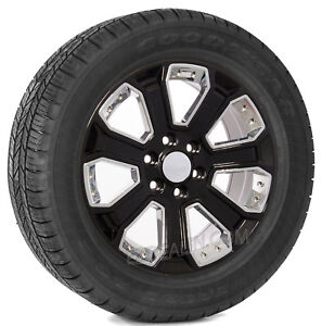 Chevy Suburban Tahoe Silverado Z71 20 Black With Chrome Wheels Goodyear Tires