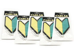 5 Pack Wakaba Japan Young Leaf Apple Scent Jdm Non Toxic Car Air Freshener Tree