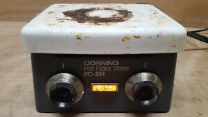 Corning Pc351 rc Hot Plate Stirrer powers On