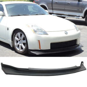 For 03 05 Nissan 350z Nis Style Black Front Bumper Chin Spoiler Lip Protector
