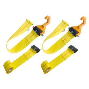 2 Pcs 4 X 3 Tow Hook Roll Off Winch Strap Assembly W 2 Free 4 x35 Straps