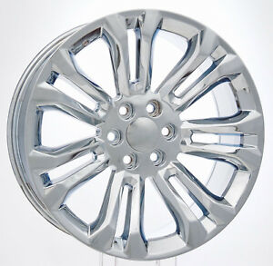 22 Inch Chrome Split Spoke Wheels Rims Chevrolet Tahoe Silverado Ltz Suburban