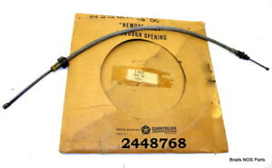 Nos Mopar 1963 66 Plymouth Dodge Rear Park Brake Cable 2448768