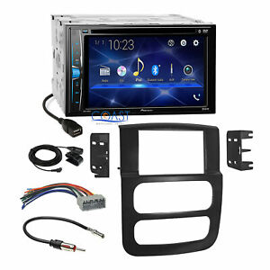 Pioneer 2018 Dvd Bluetooth Stereo Dash Kit Harness For 02 05 Dodge Ram Truck