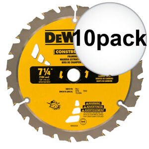 Dewalt Dw3578 10pk Framing Saw Carbide Circular Saw Blade New